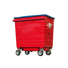 1100L-6-5 Galvanized Metal Outdoor Waste Bins