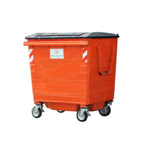 1100L-6 Hot Dip Galvanization Steel Waste Bin