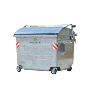 2500L Hot Dip Galvanization Steel Outdoor Waste Bins
