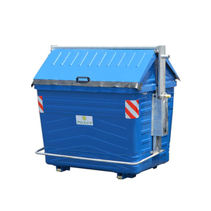 3200L Hot Dip Galvanization Steel Street Garbage Bin