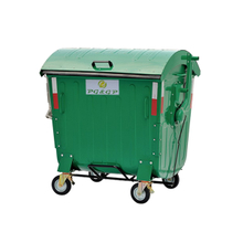 1100L-2 Galvanized Powder Coating Sheet Dust Bin