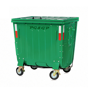 1100L-5 Galvanized Sheet Powder Coating Rubbish Bin