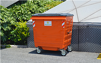 What Is the Galvanized Garbage Container with Wheels